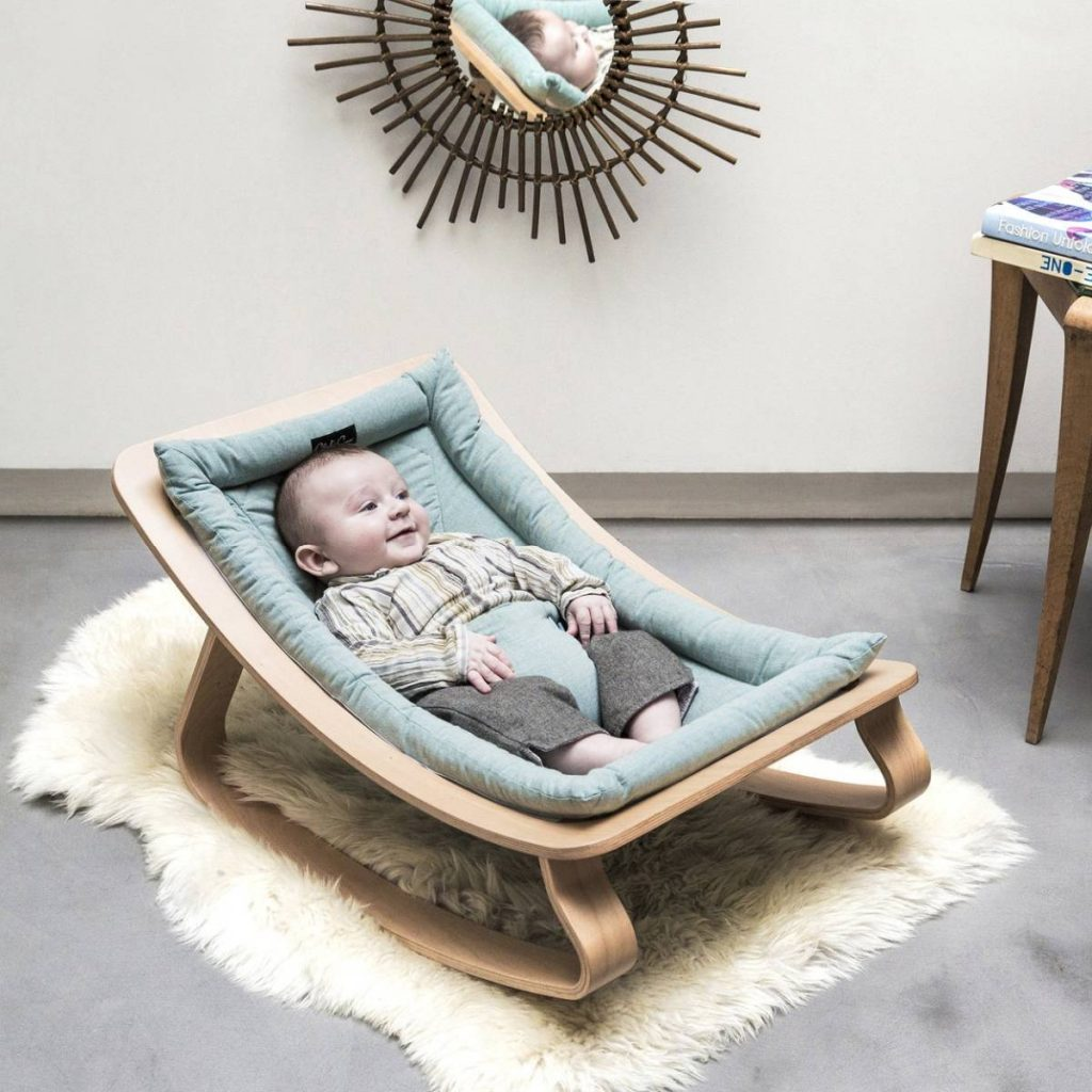 baby rocker with baby