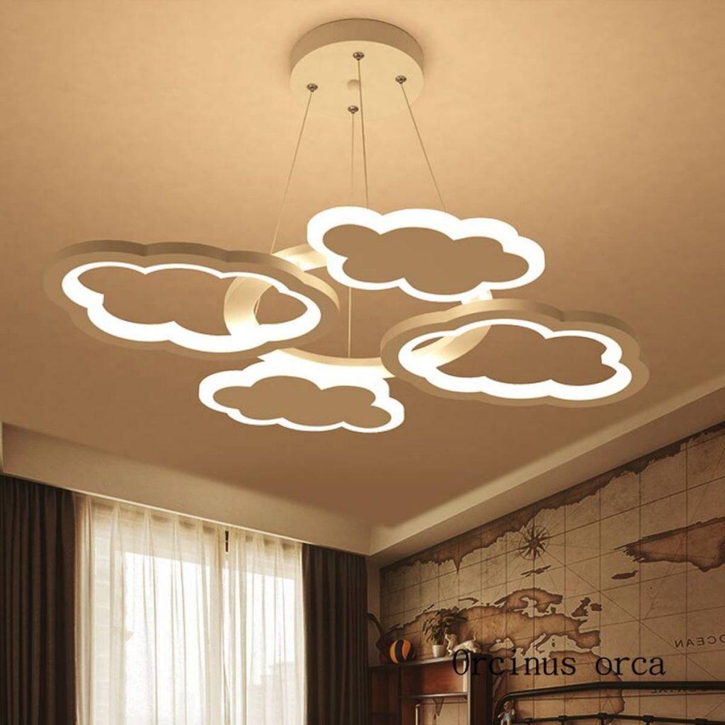 cloud lighting on nursery ceiling