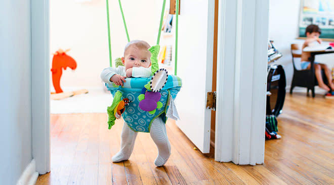 door baby bouncer