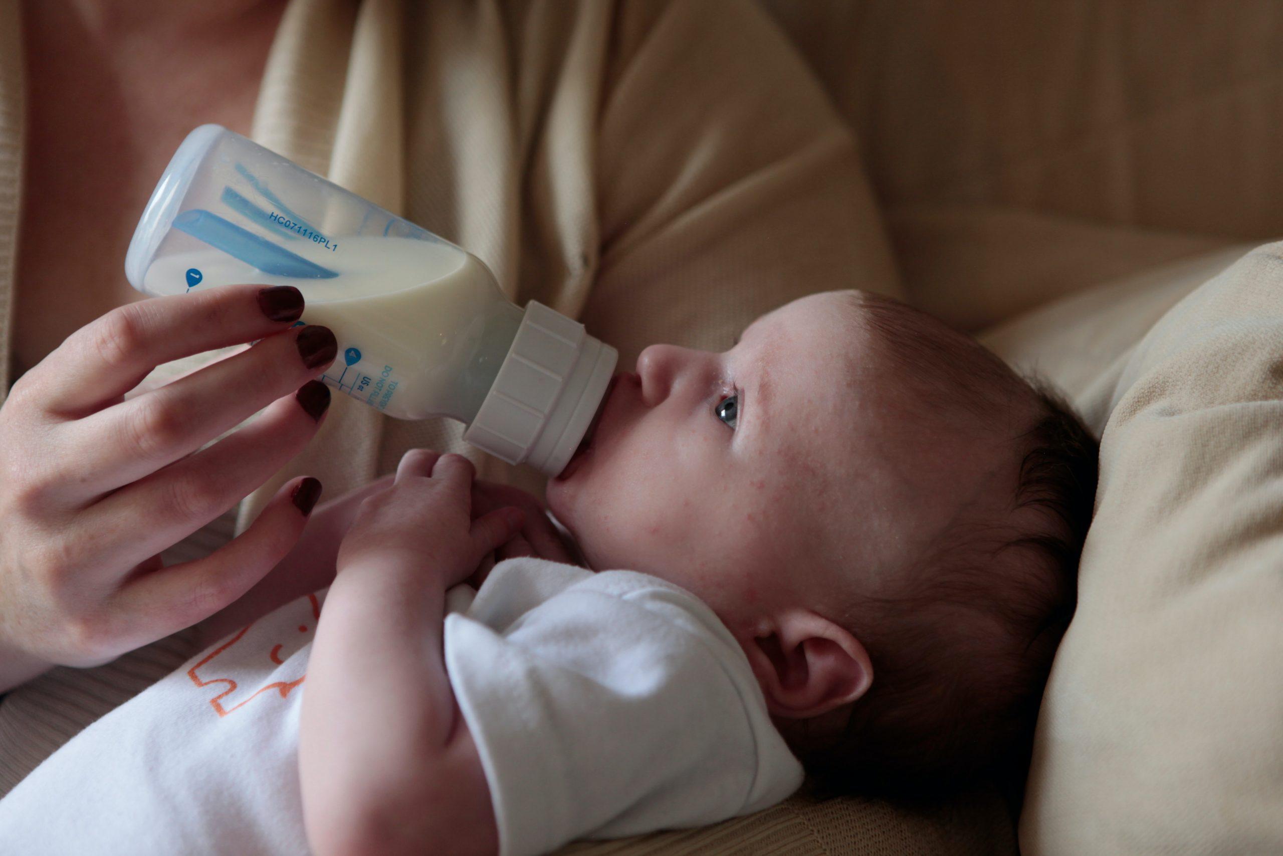 feeding milk