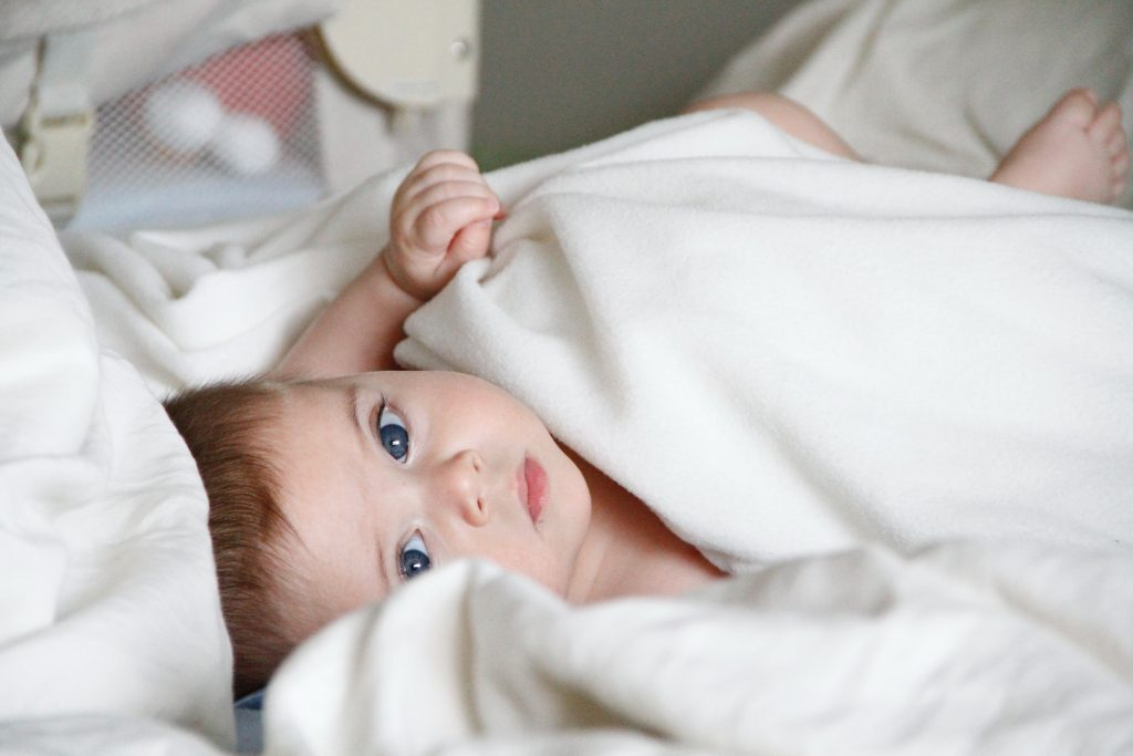 baby with blanket