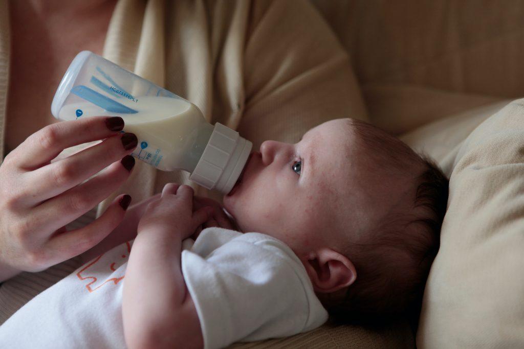 baby feeding milk