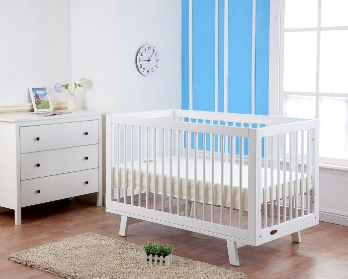 white baby cot riley 3 in 1 nursery furniture
