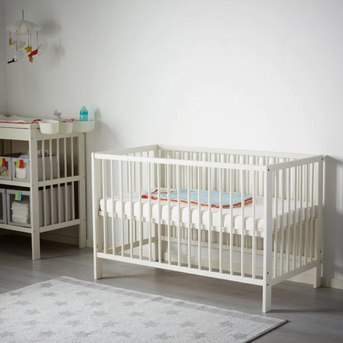 gulliver cot white in baby nursery