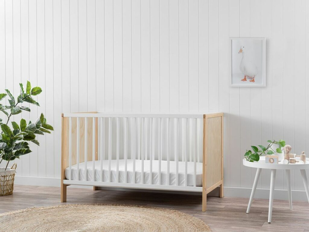mocka aspiring baby cot in nursery room