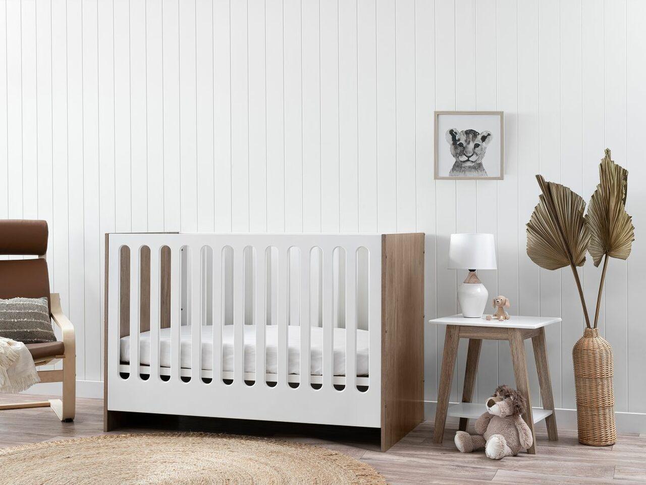 malfi luxe baby cot in baby nursery