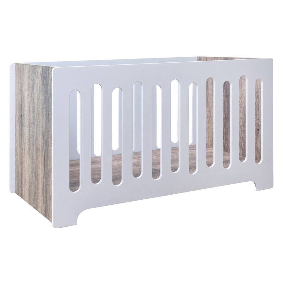 nordic white stand alone baby nursery cot
