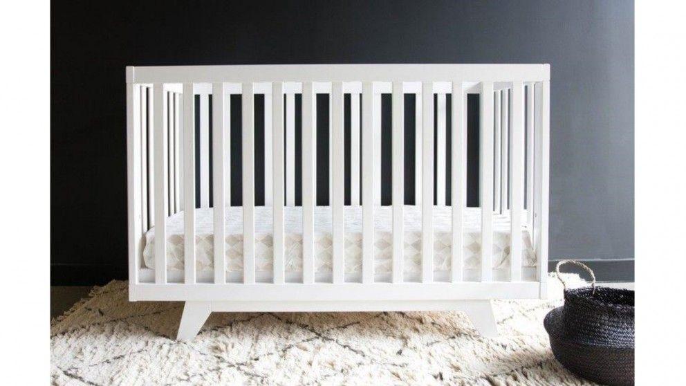 sunbury white baby cot in nursery