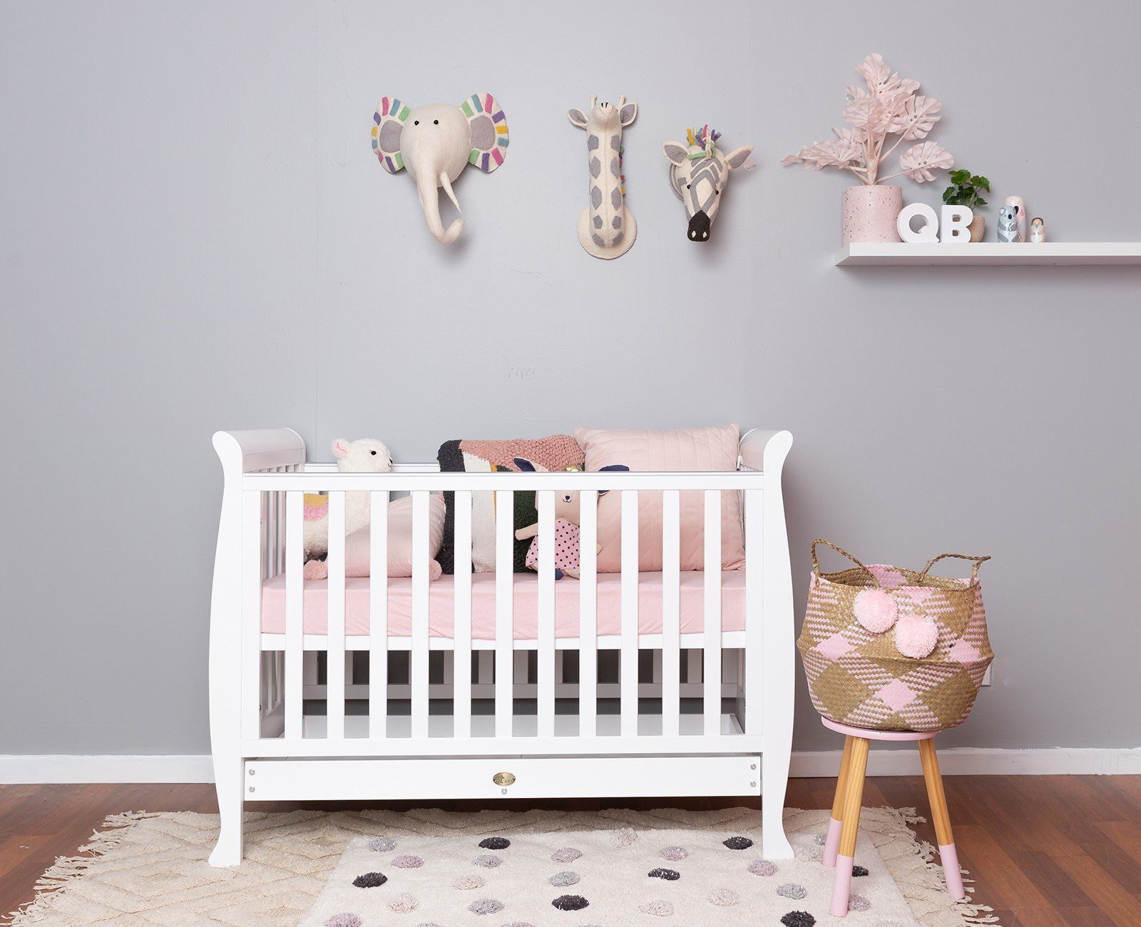 linton cot and mattress in baby nursery furniture