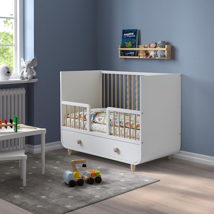 myllra-cot-with-drawer-white