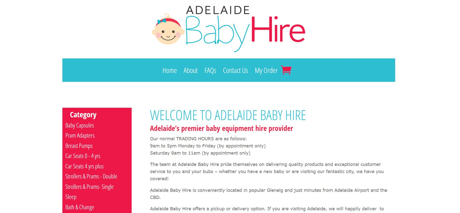 adelaide baby hire