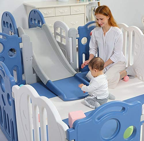 premium quality 148x173cm kids baby playpen options toddler baby safety gate room home indoor