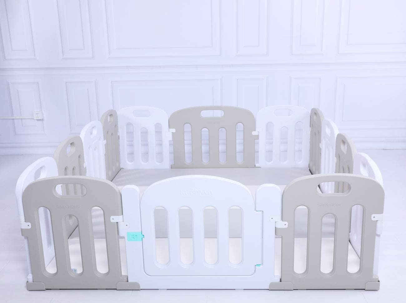 premium quality baby kids playpen toddler baby safety gate + slide + play mat options home indoor playroom