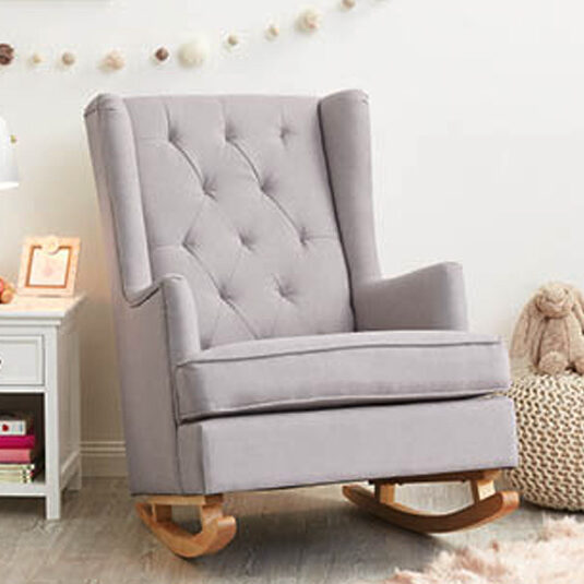 grey rocking chair for nursery