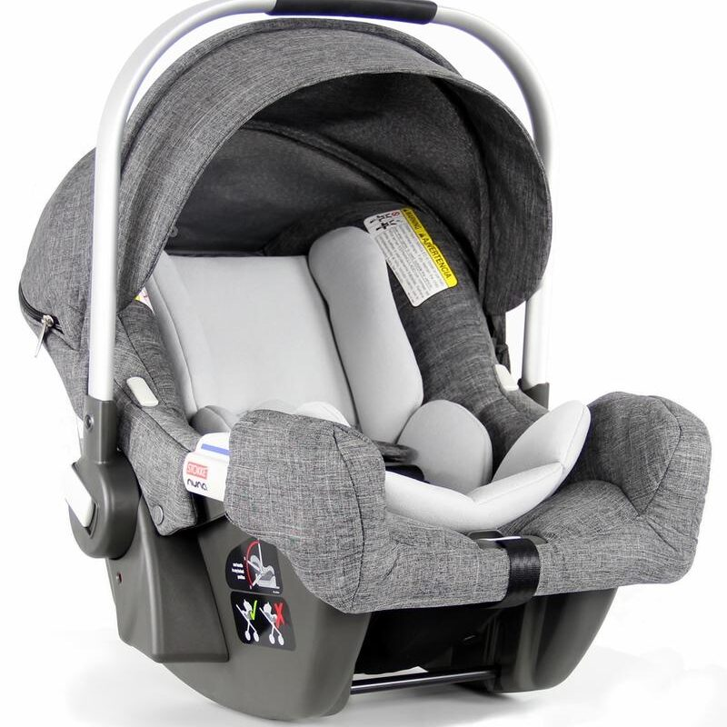 grey baby car seat