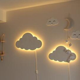 cloud lighting in babyroom