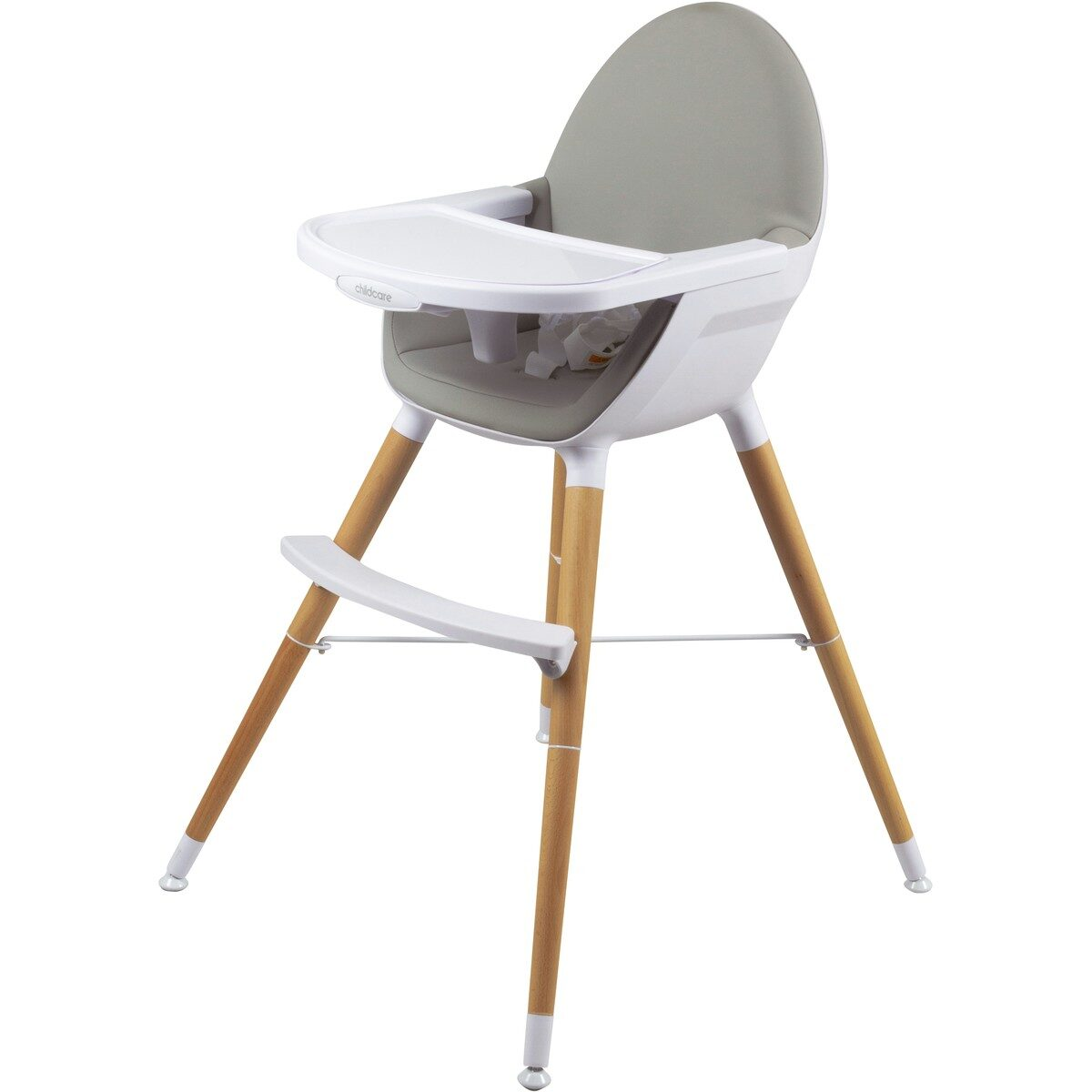 high chair with wooden legs